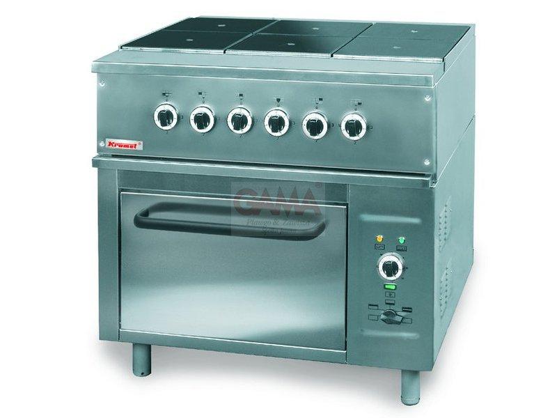 Kuchnia Elektryczna 6 Palnikowa Z Piekarnikiem Elektrycznym